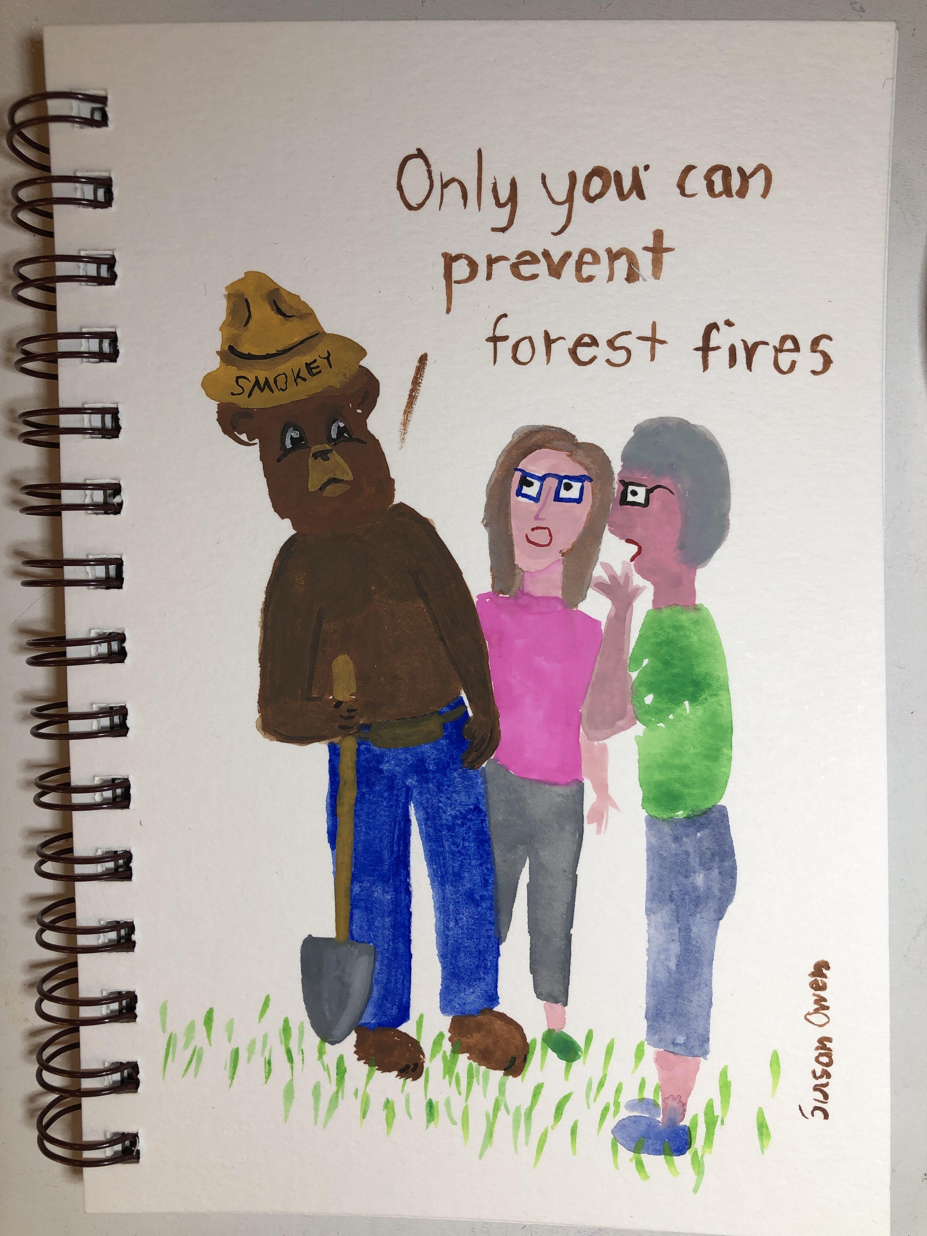 Advice from Smokey Bear